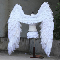 EMS Free Shipping High Quality Model T Station Angel Wings Accessories Halloween Event Decorations Props White