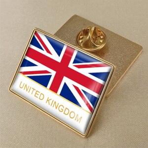Герб Великобритании/британский флаг, Национальная эмблема, брошь/значки/значок на лацкан