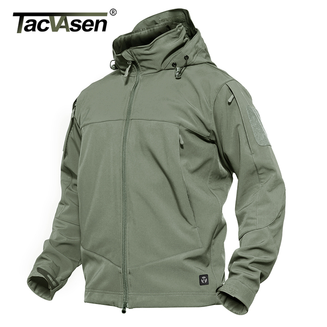 71845f6792bfb TACVASEN Tactical Soft Shell Jacket Men Winter Waterproof Hooded Jacket Coat  Autumn Military Jacket Windbreaker TD-QZJL-014