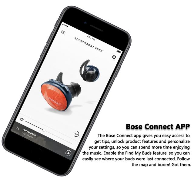 Bose Headphones SoundSport Free True Wireless Bluetooth Earphone TWS Earbuds Sweatproof Sport Headset Music Earphone with Mic