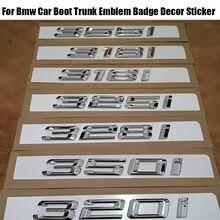 Topo do carro-estilo 3d emblema do carro adesivo emblema para bmw série 3 gt 318i 320i 325i 328i 330i 335i logotipo auto amortecedor traseiro carta decalque