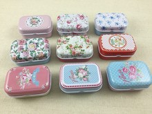 32pcs/lot Flower Style Vintage Mini Tin Box Storage Boxes Jewelry Wedding Favor Candy Box Accessories Free Shipping