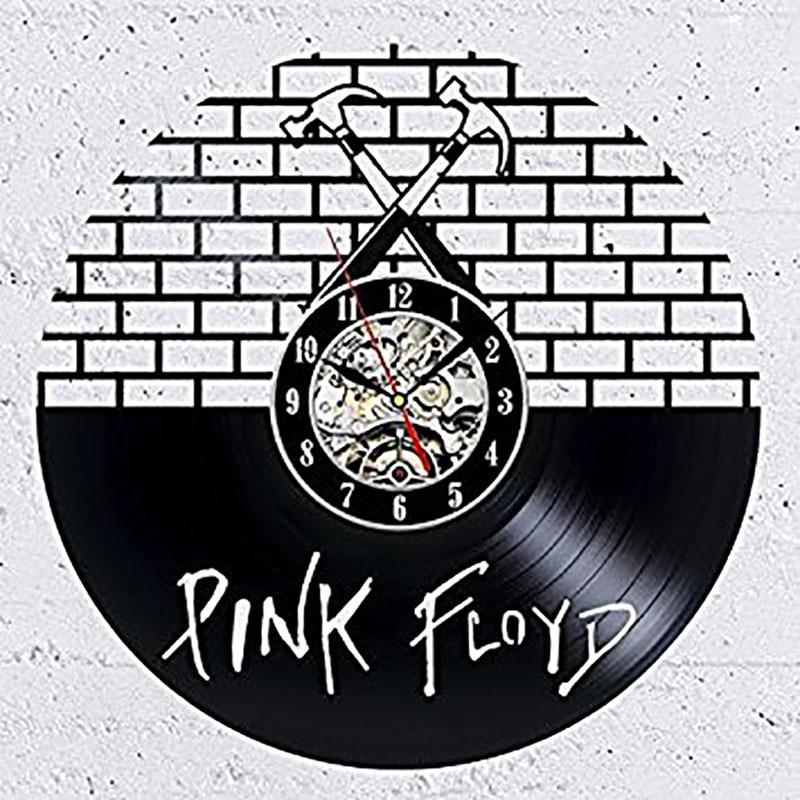 Pink Floyd Round Hollow CD Record Wall Clock Creative Art Vinyl Record Wall Clock Antique Style Handmade Home Decor LED Clock