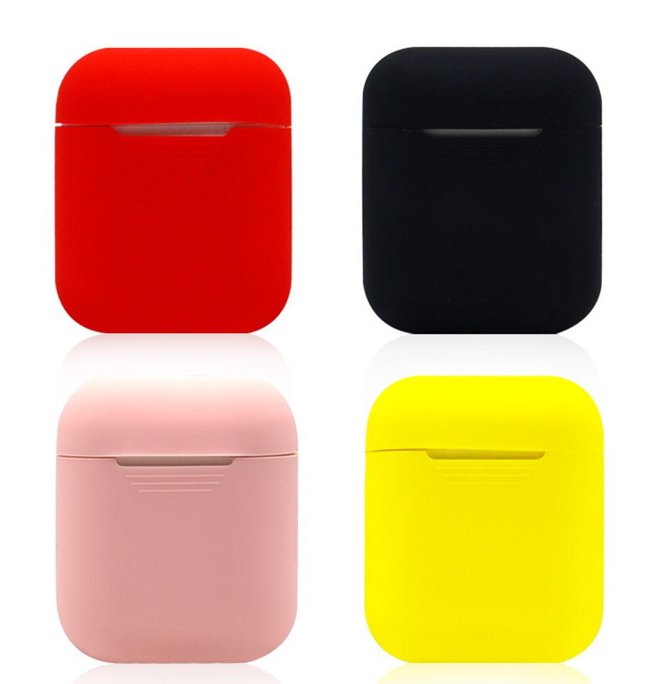 Soft Silicone Case For Airpods Solid Color Cute Earphone Protective Cover Waterproof for iphone 7 8 Headset Accessories