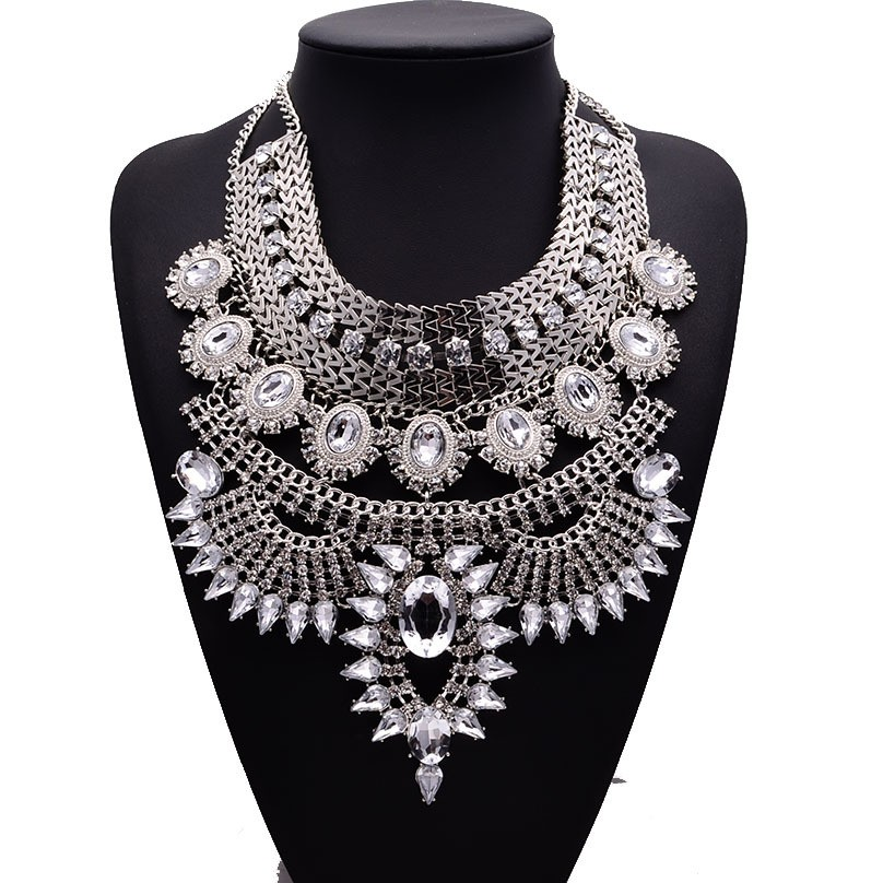 HTB1QVKrDNjaK1RjSZKzq6xVwXXaQ - Miwens Collar Za Necklaces Pendants Vintage Crystal Maxi Choker Statement Silver Color Collier Necklace Boho Women Jewelry