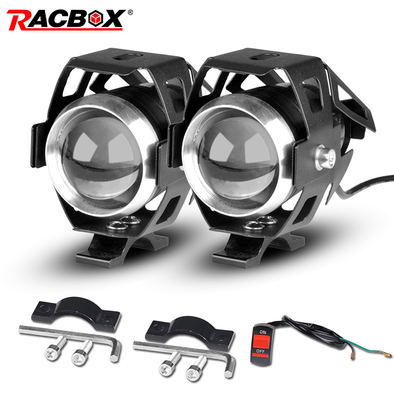 Motorcycle Headlights U5 Led Moto Light DRL Headlamp Motorbike Auxiliary Lamp Fog Spotlights Universal For Suzuki Ltz 400 12V
