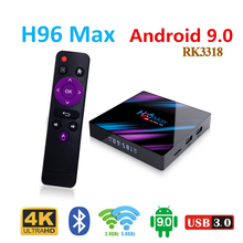 H96 MAX tv box Media Player Android 9.0 Rockchip RK3318 WiFi 2.4G/5G USB3.0 H.265 4GB Ram 32GB/64GB Rom H96 MAX Smart TV Box h96 max smart tv box android 7 1 rockchip rk3328 4gb ram 64gb rom iptv smart set top box 4k usb 3 0 hdr h 265 media player box