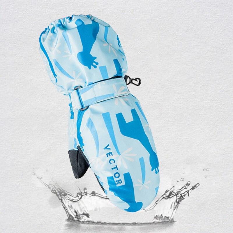 VECTEUR de Enfants Enfants Ski Gants D'hiver Mitaines Imperméables Pour Garçons Filles En Plein Air Coupe-Vent Ski Snowboard Gants