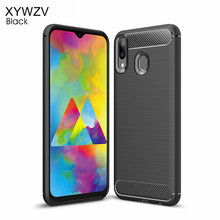 For Samsung Galaxy M20 Cover Luxury Armor Rubber Soft Phone Case Fundas