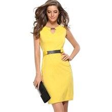 Sequin Dress Bodycon Office Dress 2017 Summer Dress Women High Waist Sleeveless Hollow Out O Neck