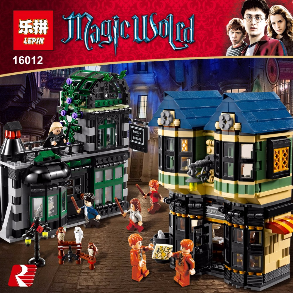 Lepin 16012 2025Pcs Magic Word Diagon Alley Set Educational Building Blocks Bricks Model Toys Gift 10217 for kids gift toys lepin 16012 diagon alley building bricks blocks toys for children boys game model car gift compatible with bela decool 10217