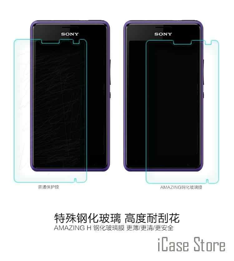 0,3mm Ultra delgado 9H Premium de cristal templado para Sony Z1 Z2 Z3 Z4 Z5 compacto T2 T3 C3 C4 C5 M2 M4 M5 Z5 Plus Protector de la película
