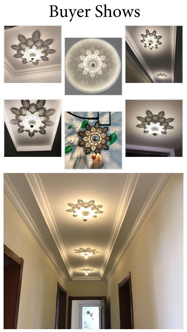 Lights & Lighting Led Lamps Modern Design Flower Shadow Lamp Ceiling Light For Bedrooom Living Room Hotel Bedside Light Wall Decoration Art Light