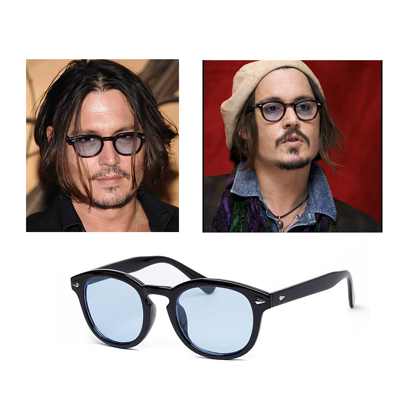 lunette de soleil johnny depp,Cheveux au vent et lunettes color茅es pour  Johnny Depp f75b5a10aefc
