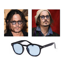 Superestrella johnny depp gafas de sol hombre hot new moda vintage remaches gafas de mujer de marca gafas de sol gafas de sol oculos