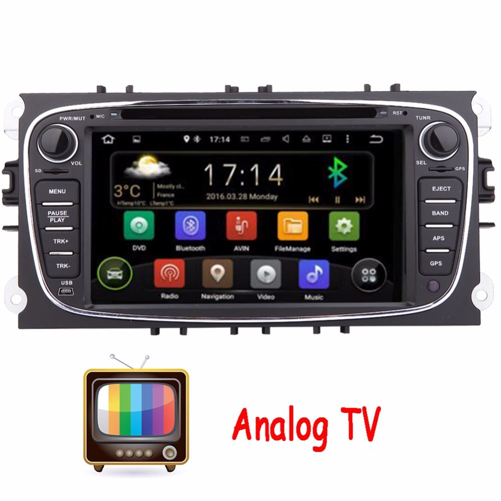 Analog TV Dual core Android 4.2 Car DVD GPS player For Ford Mondeo Ford Focus 2012 2013 2014 2015 Radio Autoradio Navigation+TV