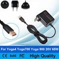 65 W 20 V 3.25A AC Adatper Cabo fonte de Alimentação Portátil Carregador de Parede ligue para Lenovo Yoga 700 Yoga Yoga 900 4 Yoga4 Yoga700 Yoga900