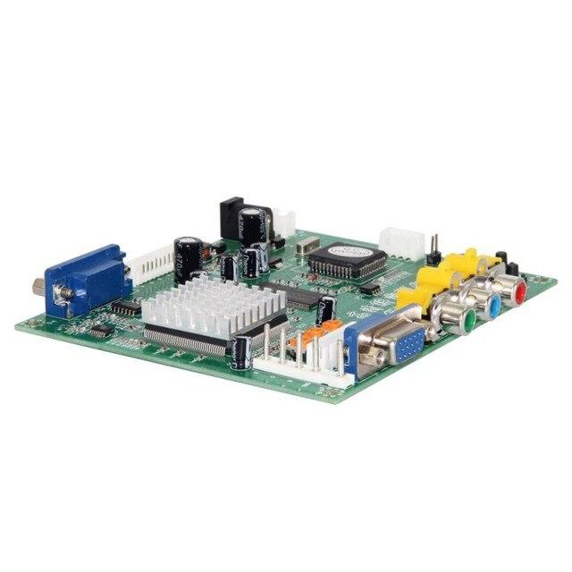 GBS8200/HD9800 RCA vers VGA adaptateur de décodage vidéo convertisseur HD carte de Conversion pour projecteur CRT LCD PDP
