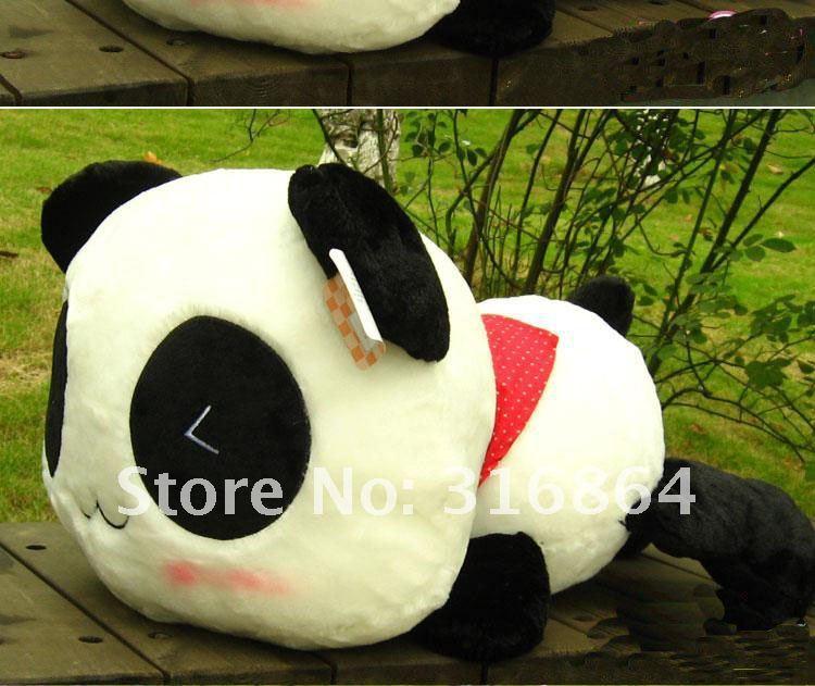 Ingyenes szállítás 70 cm-es panda plüss játék puha töltött játék nagykereskedelem és a karácsonyi ajándék újra