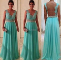 Cheap Chiffon elegant v neck cheap wedding party dress long girls gown lace bridesmaid dresses 2017