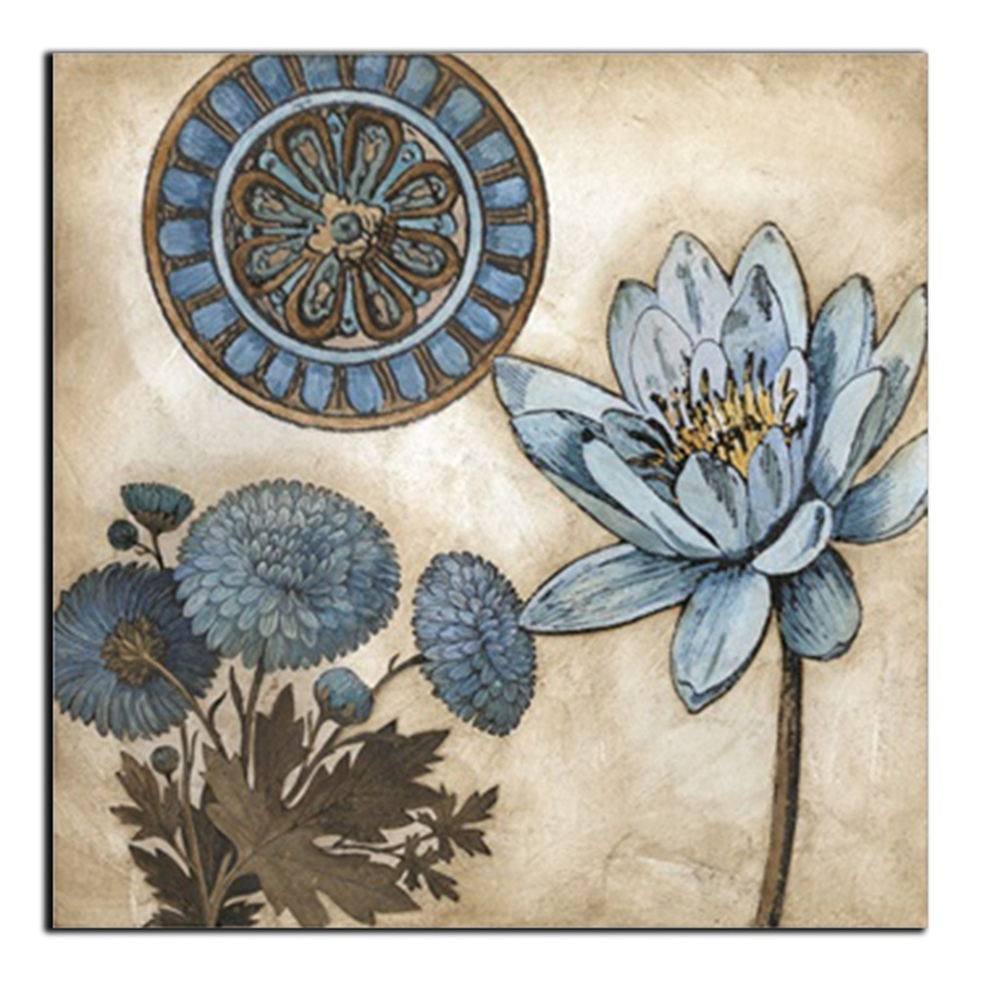 Laeacco Abstract Chinese Painting Lotus Posters Prints Wall Artwork Nordic Home Decoration Canvas Painting Living Room Decor in Painting Calligraphy from Home Garden