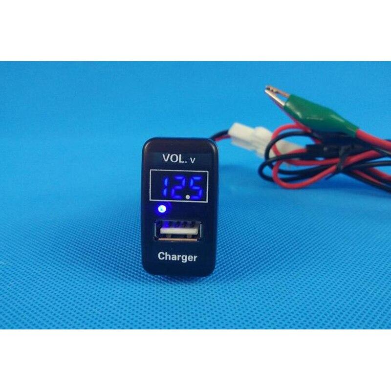 Image 4 - Carregador usb conector de áudio tensão para fora temp na temperatura de exibição vol. v tem para toyota fj cruiser previa 2004 vigo camryLâmpada de sinal   -