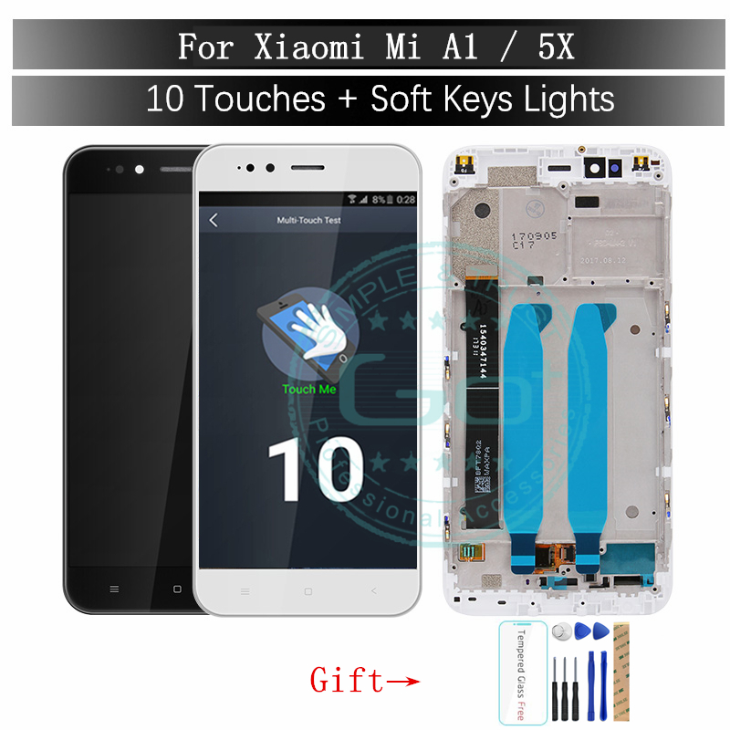 Xiaomi Mi A1 LCD Display with Frame 10 Touch Panel Screen Xiaomi A1 5X LCD Digitizer