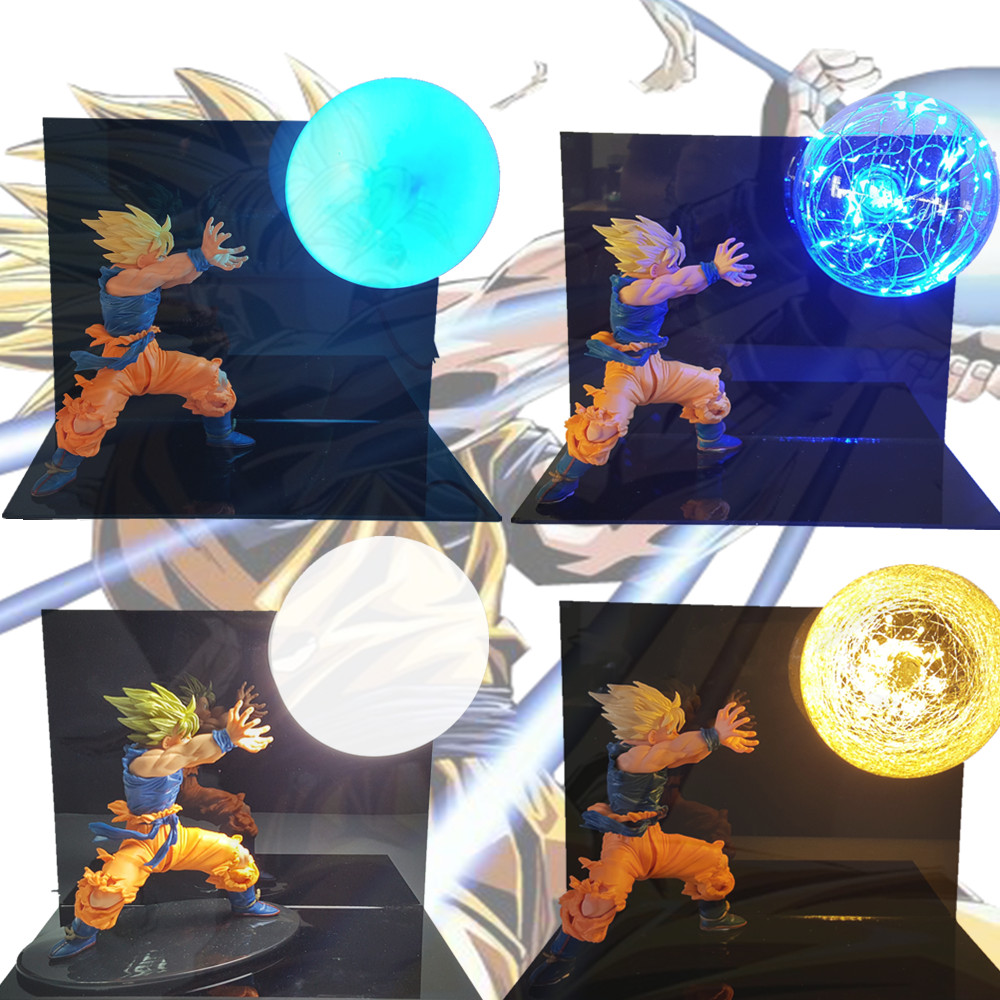 Dragon Ball Son Goku Kamehameha Table Lamp Led Lighting