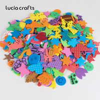 Lucia handwerk 100 stücke Zufällig mischfarben schaum papier aufkleber kinder eva aufkleber pädagogisches DIY scrapbooking handwerk H0105