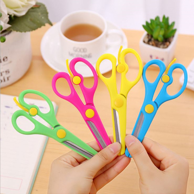 Coloffice 1PC Colorful Candy Color Kid Safe Multipurpose Household Scissors Cutting Paper Tools Student Office School Supplies