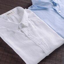 2017 New brand white shirt men summer short sleeve casual men shirt fashion cotton shirts mens business camisa masculina 4XL