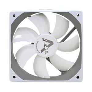 Image 2 - ALSEYE Computer Fan 120mm 12v White Fan (2pieces/lot) 64CFM High Air Flow Quiet Fan for Computer Exhaust