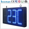 Leeman outdoor programmable clock /time /date /temperature led sign/signs outdoor high brightness advertisement led display