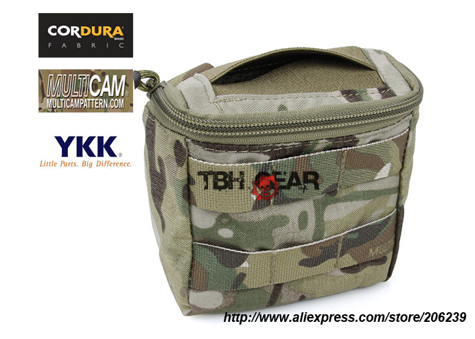 TMC Disposable Glove Pouch Multicam MOLLE Battle Field Medic EMT Pouch+Free shipping(SKU12050148)