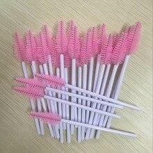 500 pcs/lot Wholesale White&Pink colors Disposable Water Drop Shape Eyelashes Brush Eyelash Extension Mascara Wand Applicator