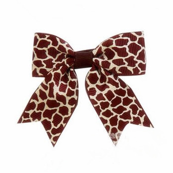 200pcs/lot  Leopard print hair bow Cheetah animal print hair bow