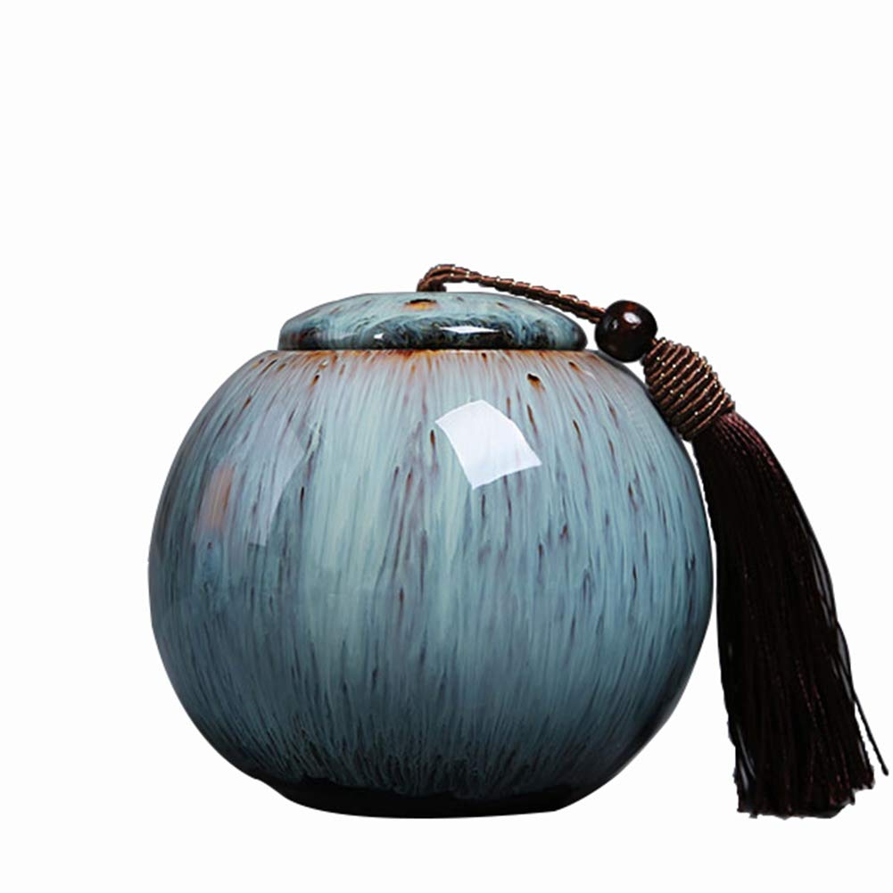 Cremation Urn for Ashes - Funeral Urn for Human Ashes - Made in Ceramics & Hand-Painted- Display Burial Urn At Home or in Niche makeup brushes