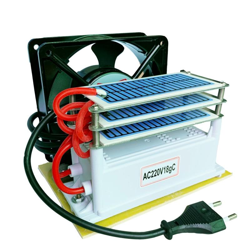 18g/h Ozone Generator Air Water Purifier 3 Layers Moisture Proof With Fan Ozonizer  Sterilizer Treatment Ozone Machine