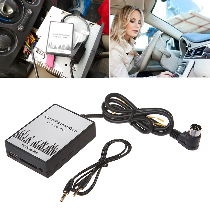 Free delivery USB SD AUX Car MP3 Music CD Changer Adapter For Peugeot 307 407 Citroen C4 C5