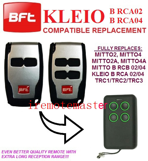 Univeral remote fits BFT RCA02 / 04 rolling code remote control duplicator free shipping high quality bft mitto2 mitto4 remote control raplacement 433mhz rolling code dhl free shipping