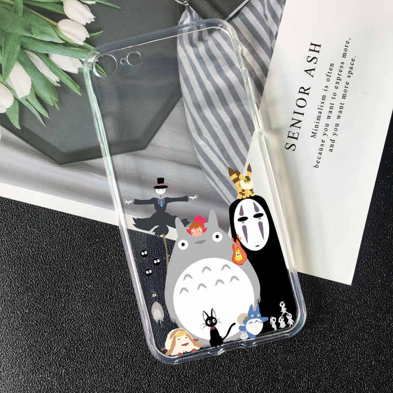 Spirited Away Ghibli Anime Kaonashi Cute Totoro Phone case for iPhone 11 pro 5 5S 4s 6 6s 7 8 Plus XR X XS Max TPU Silicone Case