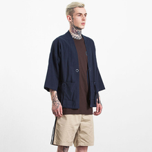 Original Retro Gowns Chinese Style Shirt Clothing Cotton Linen In The Sleeves Kimono Tide Three Quarter Male Cardigan Lovers