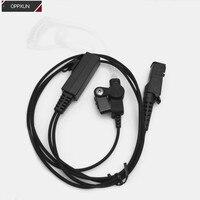 Rectangular Air Conduit Earphone for motorola XPR3300 XPR3500 XIR P6620 XIR P6600 E8600 E8608 XPR3100 two way radios