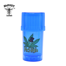 HORNET Plastic  Grinder 3Layers Tobacco Herb 40mm With Storage Case Accessories