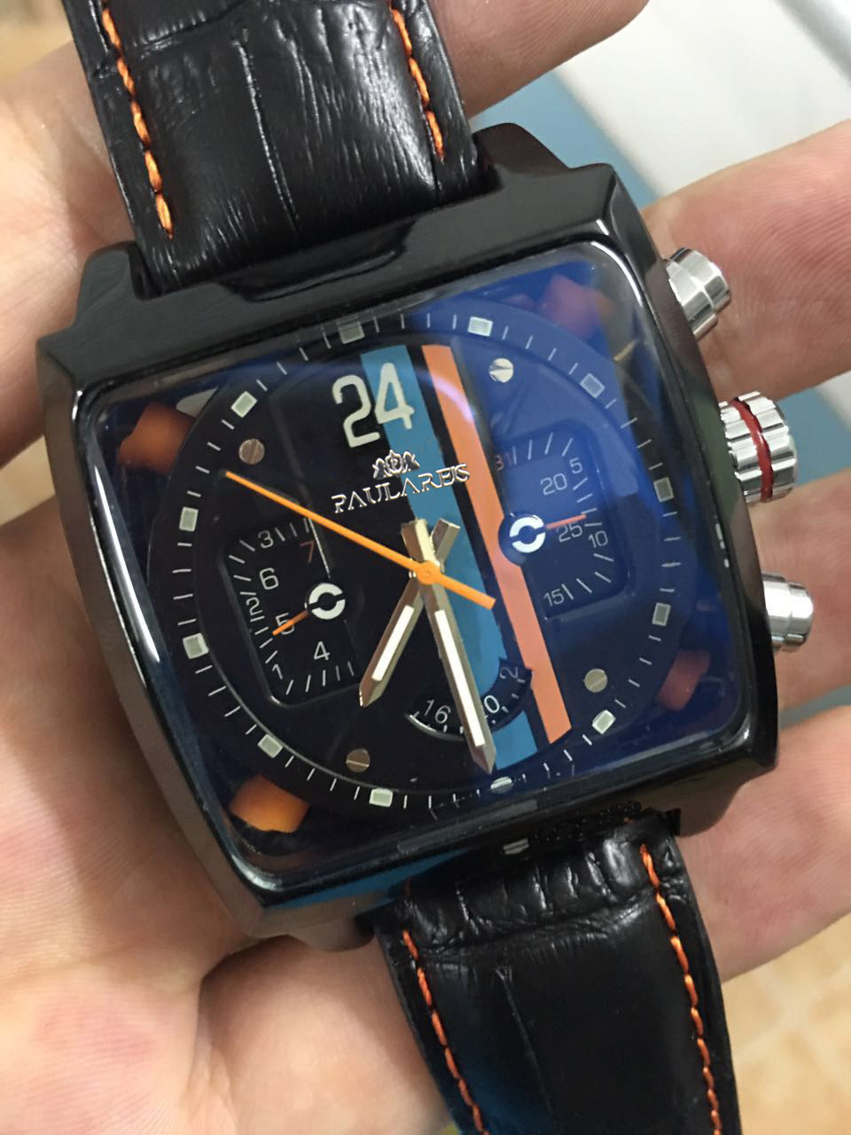 popular self winding watches men buy cheap self winding watches luxury new brand square black leather automatic mechanical self wind watch date orange rectangle stainless steel