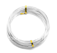 Wholesale 1 Rolls 10M Silver Plated Aluminum Wire Craft Metal Cord Jewelry Making 2mm Findings Free