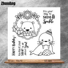 ZhuoAng Cute seals Stamps/Silicone Transparent Seals for DIY scrapbooking photo album Clear Stamps 10*10cm