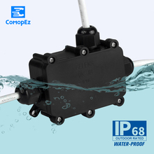 1PC Wire Waterproof Connector Quickly Connected T 4 pin Sealed IP66 Retardant Junction Boxes for Outdoor LED