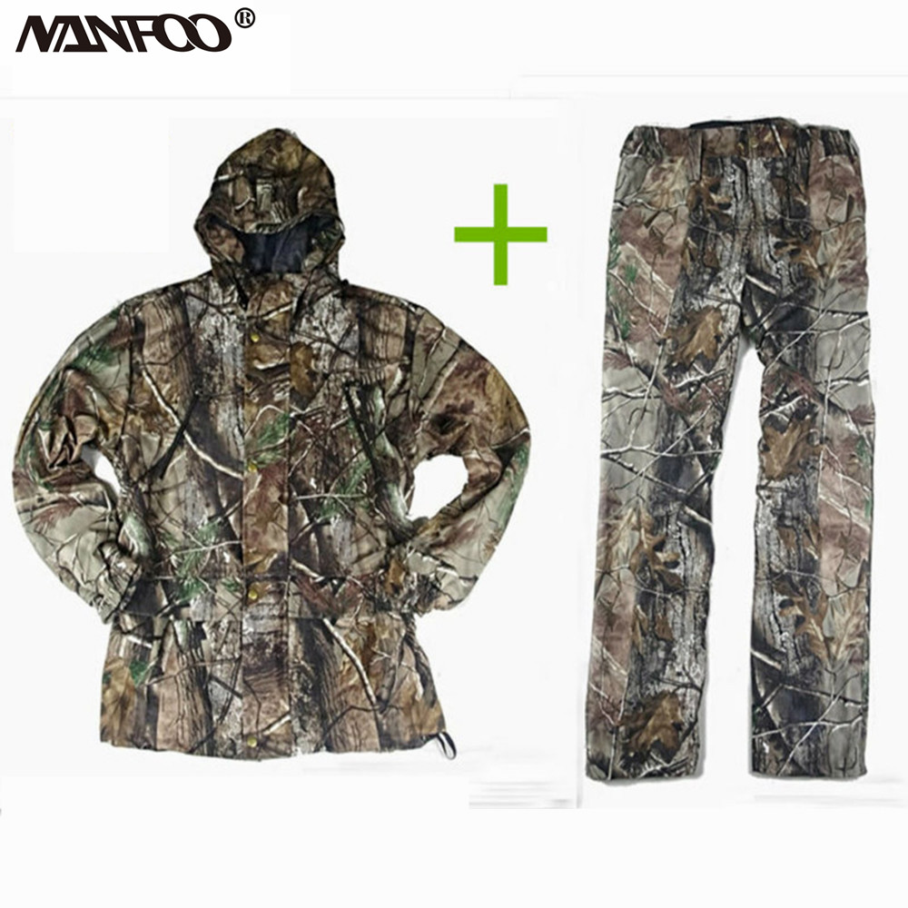 Men's Clothing Jackets pants Tactical Softshell Hunting Sets Mens Winter Outdoor Sport Waterproof Breathable Hunting Fishing Bionic Camouflage Jackets