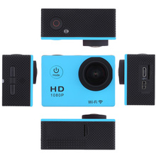 Mini WiFi Camera Full HD 1080p Cam 30M Waterproof Cameras 12MP Camara Deportiva Video Action DV Camera With 1pcs Monopod